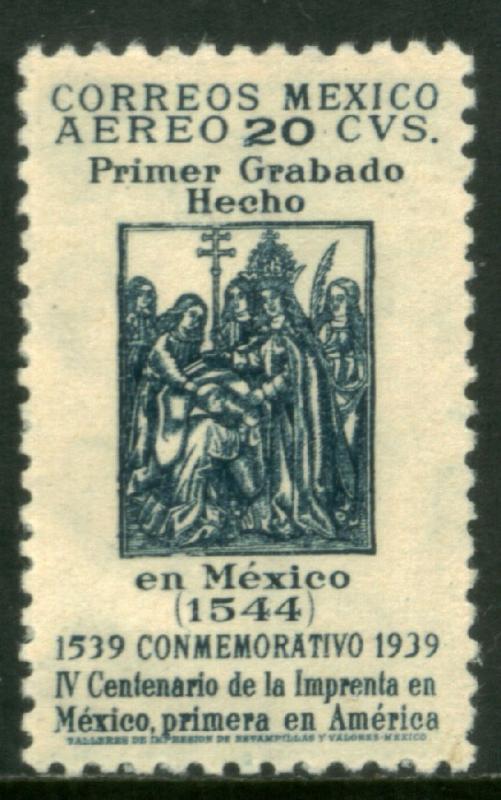 MEXICO C97, 20c 400th Anniv 1st Printing Press in America. MINT, NH. VF.