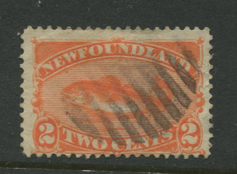 Newfoundland - Scott 48 - QV Definitive - 1887 - FU - Single 2c Stamp