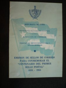 Stamps - Cuba - Scott#539-542,C110-C113 - Post Office Brochure