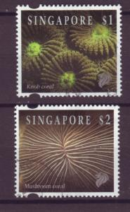 J21435 Jlstamp 1994 singapore part of set used #682-3 corals