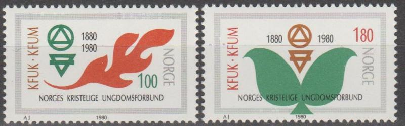 Norway #757-8 MNH F-VF (SU758)