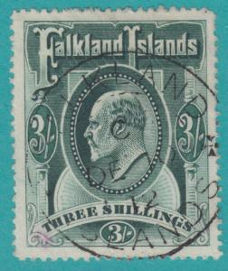 FALKLAND ISLANDS 28 SON CANCEL PINK EXPERTS MARK  NO FAULTS VERY FINE !
