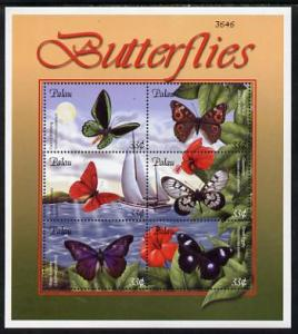 Palau 2000 Butterflies perf sheetlet containing 6 values ...