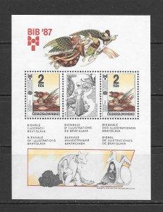BIRDS - CZECHOSLOVAKIA #2668a  S/S   MNH