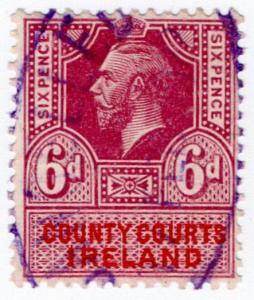 (I.B) George V Revenue : County Courts Ireland 6d