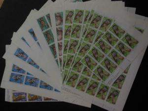 BULGARIA : 1992. Scott #3749-54 Owls, Birds. 110 sets. Very Fine, MNH. Cat $550.