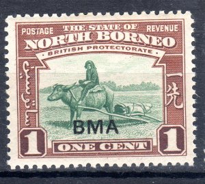 NORTH BORNEO 1945 optd  BMA  1 cent   NH   unmounted mint