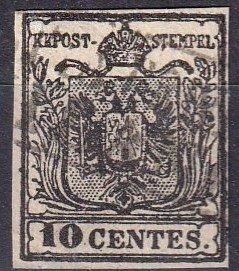 Austria  Lombardy-Venetia #3 F-VF  Used CV $200.00 (Z7960)