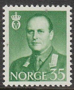 Stamp Norway Sc 409 1962 King Olav V Folkekongen King of the People Norge MNH