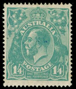 AUSTRALIA SG93, 1s 4d pale greenish blue, M MINT. Cat £120.