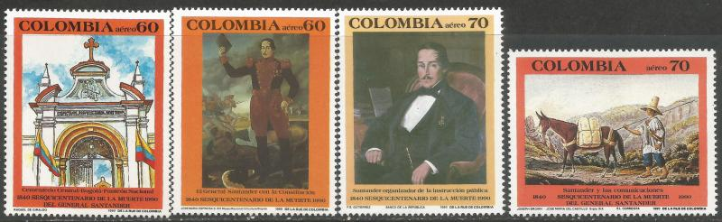 COLOMBIA C823-26 MNH W857