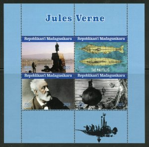 Madagascar 2020: Jules Verne sheet of four mint never hinged