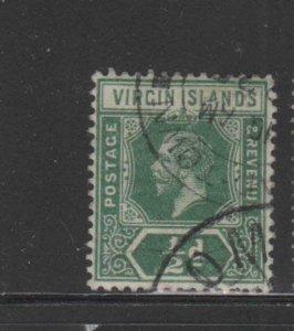 VIRGIN ISLANDS #38  1913  1 1/2p  KING GEORGE V        F-VF  USED