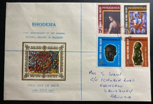 1967 Salisbury Southern Rhodesia First Day Cover FDC National Gallery Local