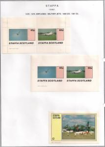 SCOTLAND - STAFFA - 1982 - Military Jets - Perf. Imperf 2v, D/L Sheets -MLH