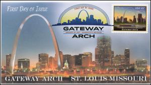 17-023, 2017, Gateway Arch, First Day Cover, DCP, $23.75, Priority Mail