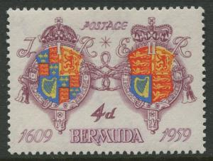 Bermuda -Scott 171 - Royal Arms - 1959 - MNH -Single 4p Stamp