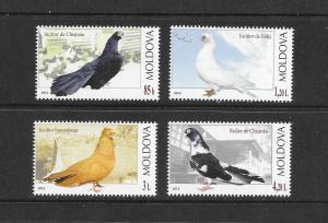 BIRDS - MOLDOVA #754-57  MNH