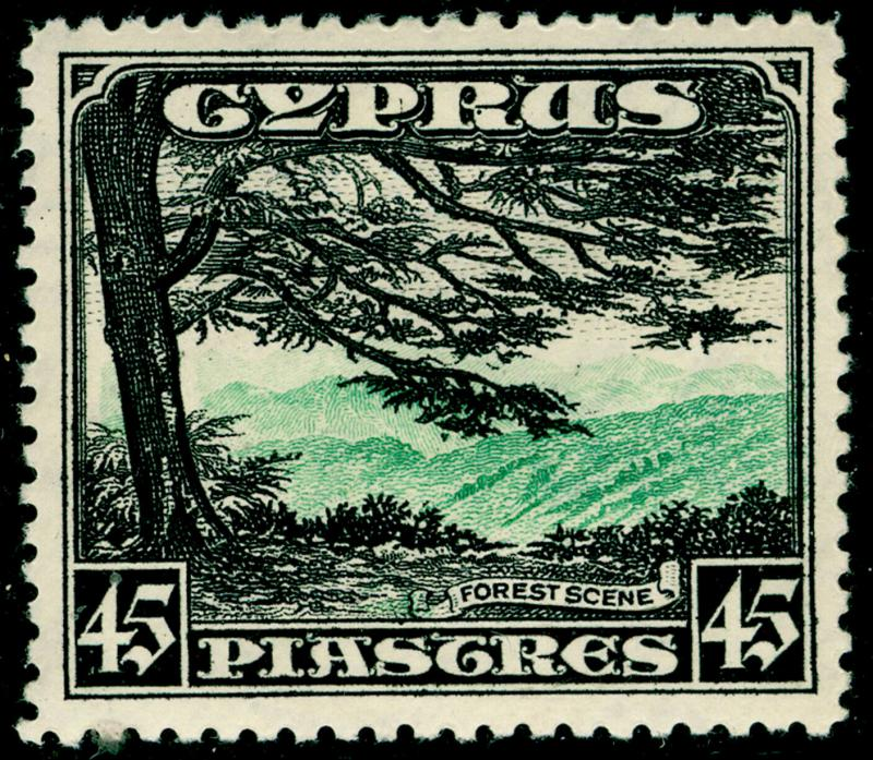 CYPRUS SG143, 45pi Green & Black, LH MINT. Cat £120.