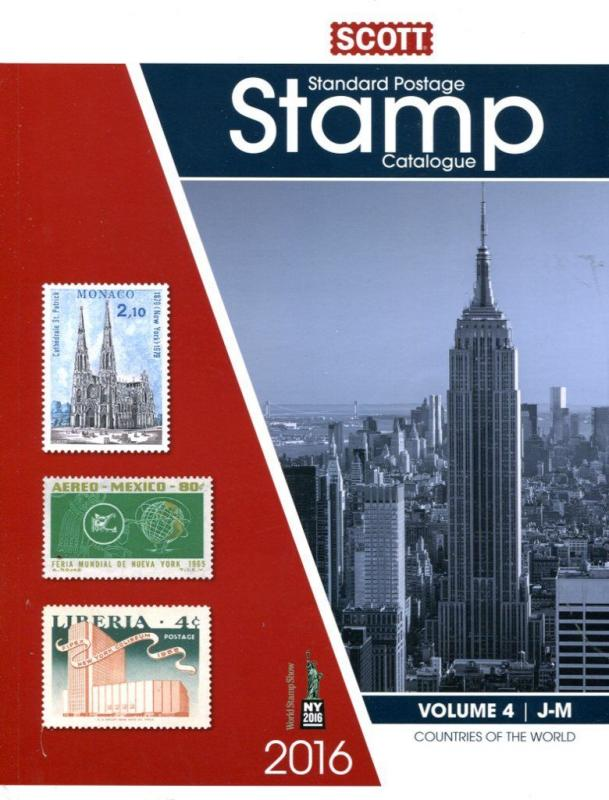 SCOTT 2016 POSTAGE STAMP CATALOGUE VOLUME 4 - PRINT EDITION - J-M COUNTRIES.