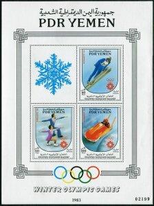 Yemen PDR 320,320 var,MNH. Olympics Sarajevo-1984. Downhill skiing, Bobsled,