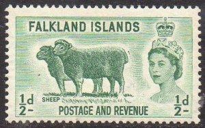Falkland Islands 1957 ½d  Sheep MH