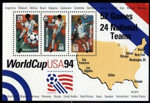 #2837 World Cup '94 S/S - XF og NH - w/FREE SHIPPING