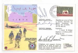 Tunisia Tunis Air RAF Escaping Society Signed Cover  PTS 1979 AH175