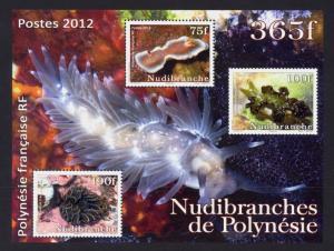 French Polynesia Sc# 1076a MNH Nudibranchs (S/S)