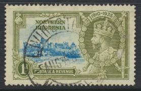 Northern Rhodesia  SG 18 SC# 18 Used / FU  -  Silver Jubilee - see details