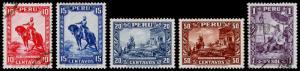 Peru Scott 319-323 (1934-35) Mint/Used H VF Complete Set B