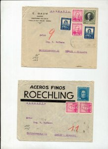 Chile Argentina Uruguay Peru Mid Period Covers x 14 To Germany(NS07