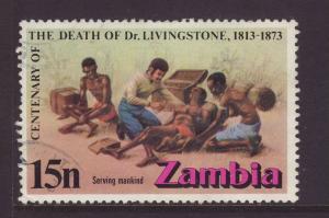 1973 Zambia 15n Death Of Livingstone F/U