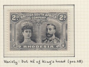 RHODESIA 103 PERF 14  DOUBLE HEAD MINT HINGED OG * NO FAULTS EXTRA FINE! POS 28