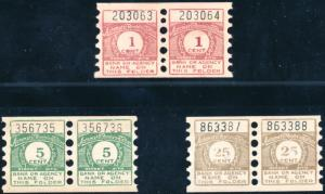 FIDELITY TRUST Co. TEST COIL STAMP PAIRS -- UNLISTED -- BP6248