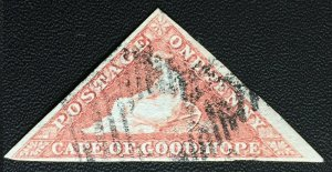 CAPE OF GOOD HOPE 1d TRIANGLE SOUTH AFRICA USED FULL MARGINS C2783