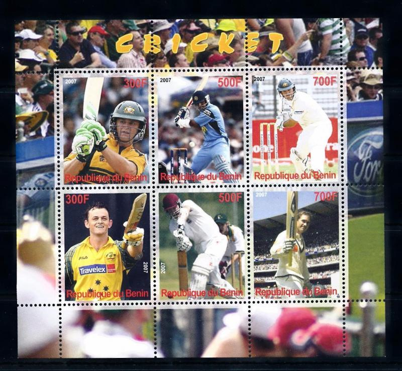 [58037] Benin 2007 Cricket MNH Sheet