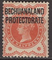 Bechuanaland Protectorate; 1897: Sc. # 69; */MH Single Stamp