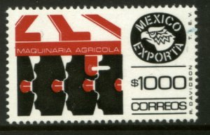 MEXICO Exporta 1588, $1000P Agric Machinery w/o Burelage Paper 10 MINT, NH. VF.