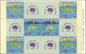 Cocos Islands #222a-223a, Complete Set(2) Booklet, 1990, Never Hinged