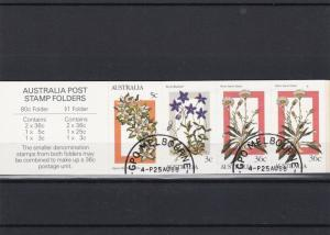 Australia Flowers Stamps Cancelled Booklet Ref 26214