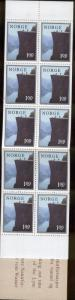 NORWAY 677a MNH COMPLETE BOOKLET THE PULPIT LYSE FJORD 1976