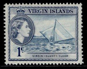 BRITISH VIRGIN ISLANDS QEII SG150, 1c turquoise-blue & slate, M MINT.