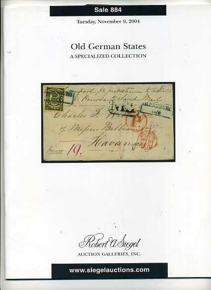 Siegel Sale of Old German States Stamps & Covers