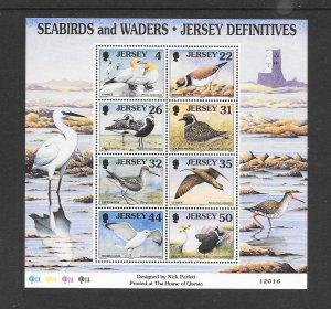 BIRDS - JERSEY #871a  SEABIRDS  MNH