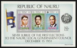 NAURU : 1976 Silver Jubilee Local Govt Council UNISSUED M/sheet. MNH **. UNIQUE?