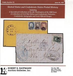 United States and Confederate States Postal History: Feat...