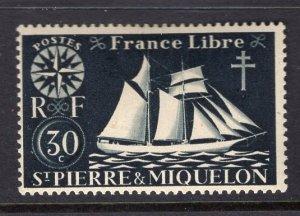St. Pierre & Miquelon #303 MH 1942