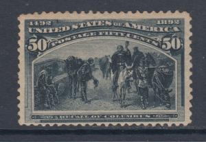 US Sc 240 MLH. 1898 50c slate blue Columbian, F-VF & Scarce