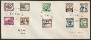 TOKELAU IS 1948 cover - last day of Samoa PO - used from ATAFU.............11473